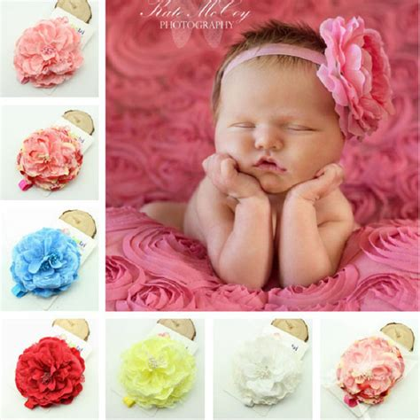 naturalwell pink baby headbands big flower headband lace hairband infant children hair