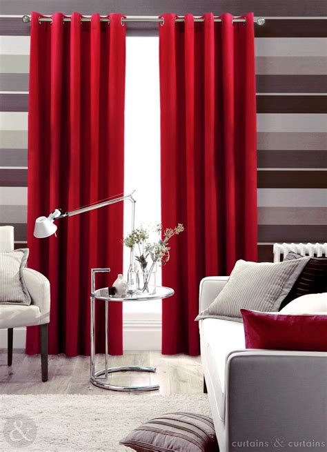 red curtains for bedroom cotton canvas red eyelet lined curtain curtains and