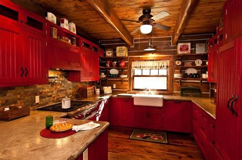 red country kitchen cabinets red country kitchen kitchen ideas pinterest