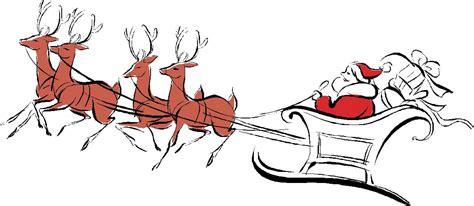 Christmas Santa And Reindeer Clipart - Clipart Suggest Free Clip Art Santa And Reindeer