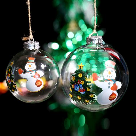 popular decorate glass christmas ornaments buy cheap