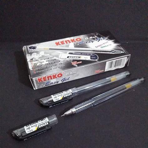 Pulpen Easy Gel Kenko 0 5 Mm Atk jual pen easy gel kenko tinta hitam baru pulpen