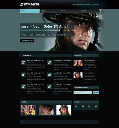 Firefighter Website Template Free Website Templates Free Department Website Templates