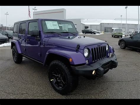 purple jeep no doors 2016 jeep wrangler unlimited backcountry 4x4 purple