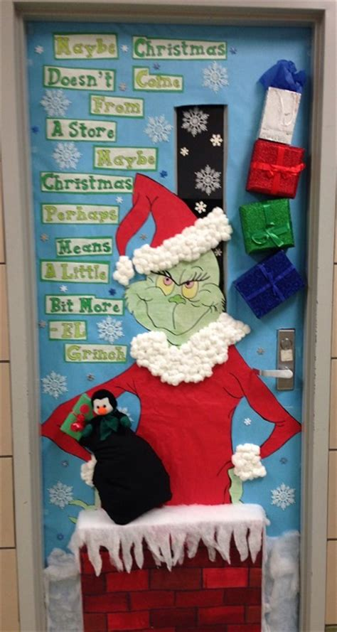 how the grinch stole door decorating ideas diy door decoration for cathy