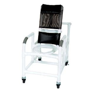 pvc reclining shower chair reclining pvc shower chair with deluxe seat 20 quot width