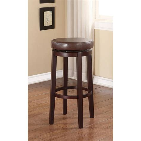 linon home decor 29 in brown cushioned bar stool 98353brn 01 kd the home depot