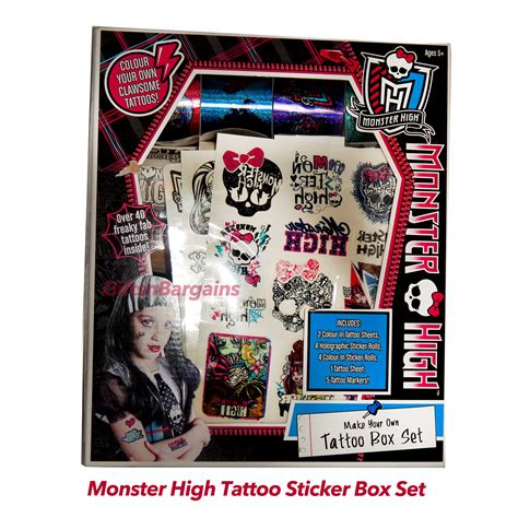 monster high tattoos high diy box set stickers 105pc birthday