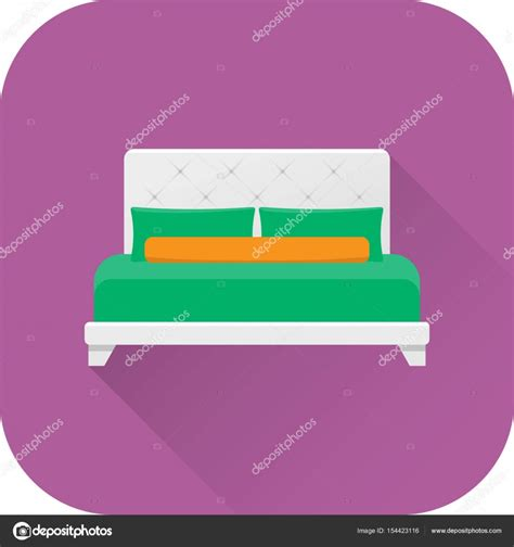 vector plan blue print flat design stock vector bed icon vector flat design with long shadow stock