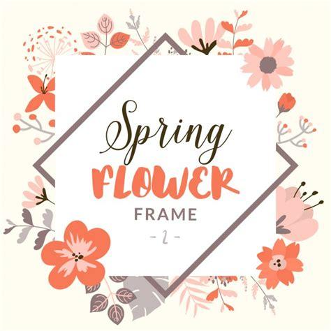 decorative flower rectangular frame with decorative flowers vector