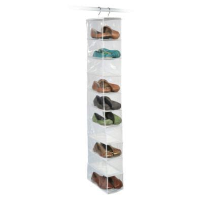 shoe organiser buy hanging shoe storage from bed bath beyond