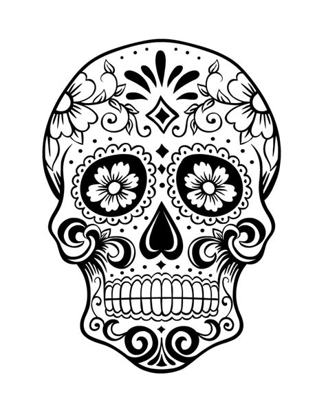 day of the dead sugar skull coloring pages coloring pages
