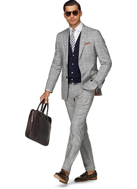 Light Suit by Suit Light Grey Check P3646 Suitsupply Store