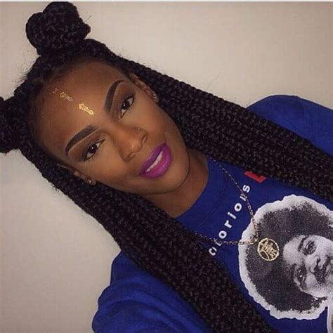 box braids two buns hairstyle pics 80 great box braids styles for every occasion