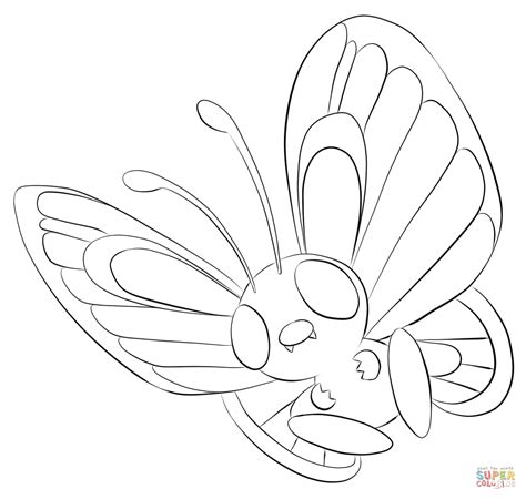 pokemon coloring pages butterfree butterfree coloring page free printable coloring pages