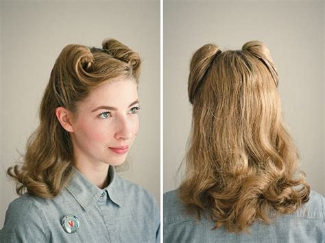 Victory Roll Hairstyle by 25 Vintage Victory Rolls From 1940 S Any Can Copy