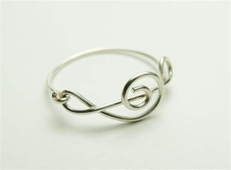 How To Make Handmade Rings With Wire - fancy note sterling silver wire ring treble clef