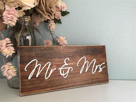 mr and mrs home decor mr mrs rustic wood wedding sign rustic home decor sign