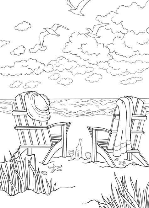 coloring page bliss bliss seashore coloring book your passport to calm by