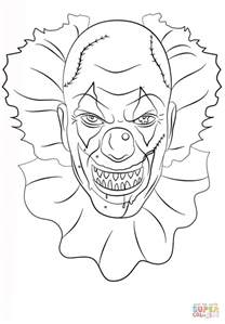 scary pics to color scary clown coloring pages coloring home