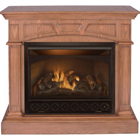 product procom dual fuel fireplace and mantel 32 000