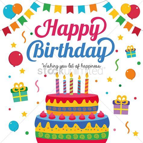 happy birthday web design happy birthday card design vector image 1388999