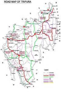 road map of state tripura road map tripura state portal