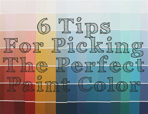 Picking Paint Colors | the ragged wren 6 tips for picking the perfect paint color