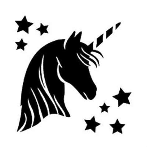 printable unicorn silhouette unicorn stencil google search renaissance costumes