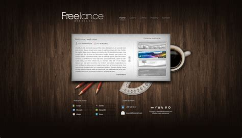 web design from home inspirational freelance web design freelancer website by maaniek9 on deviantart