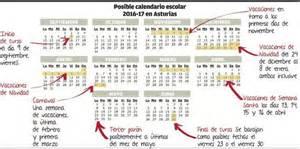 Calendario Escolar 2017 Asturias Calendario Escolar Asturias Laica
