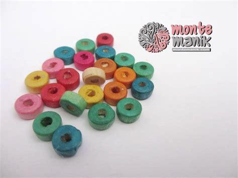 Bahan Handmade Craft http montemanik product manik kayu 06 manik kayu 06 diameter 6 mm warna caur sesuai