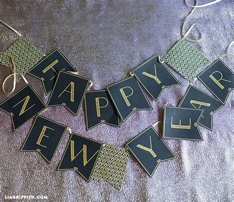 free printable banner happy new year printable new year s eve banner make