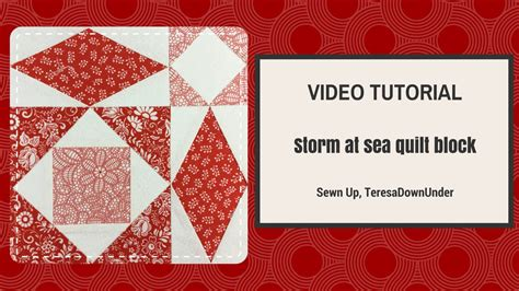 video on pattern video tutorial quick and easy storm at sea quilt block