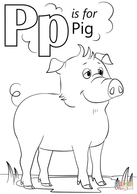 coloring book for a p letter p is for image photo album letter p coloring pages