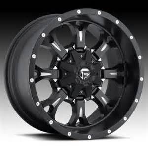 Truck Rims Flat Black Fuel Krank D517 Matte Black Milled Truck Wheels Rims