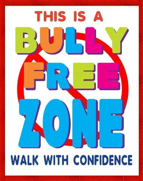 printable posters online create a bully free zone poster school poster ideas