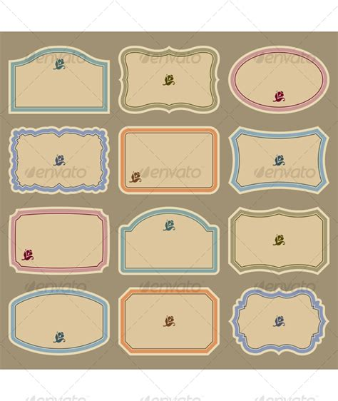 free vintage label templates for word best photos of blank decorative labels templates blank