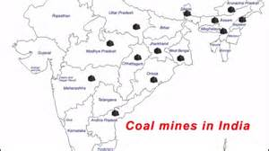 coal mines in map where are the coal mines in india