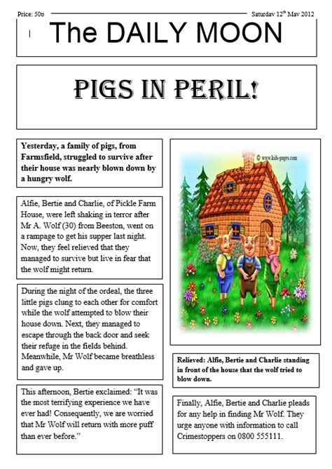 newspaper report year 5 newspaper report writing bangkok patana school