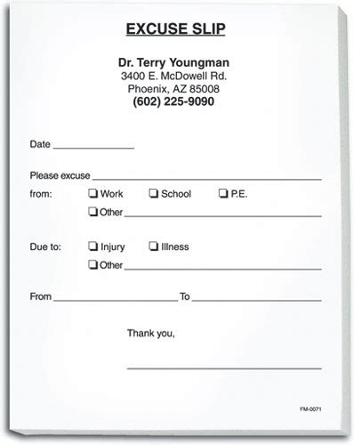 Doctor Excuse Form Mado Sahkotupakka Co Doctor Appointment Slip Template