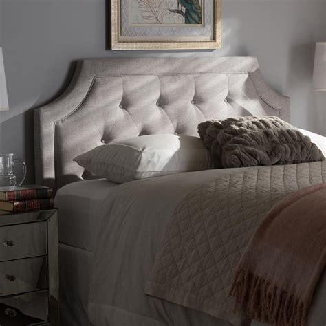 fabric headboard king size baxton studio mars greyish beige fabric upholstered king