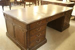 Leather Office Desk High End Executive Leather Top Desk Mahogany Desk