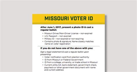 voter id voting in missouri the new voter id advancement project advancement project