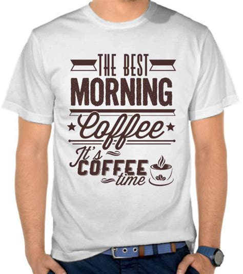 Kaos Distro Kopi Adventure jual kaos best morning coffee penggemar kopi satubaju