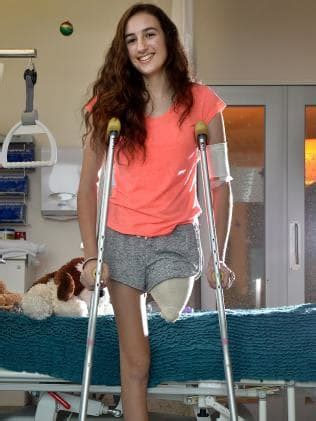 boating accident girl loses arm teen denique peace keen to get back in action after accident