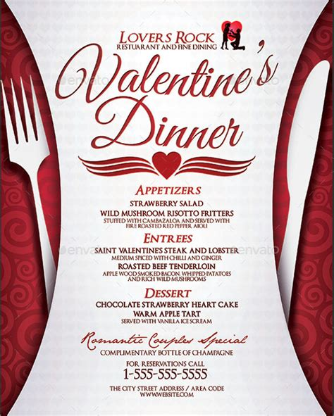 design valentine menu 30 dinner menu templates free sle exle format