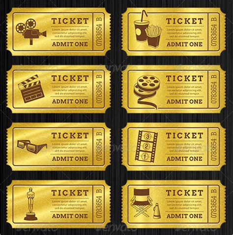 best general admission ticket template design with shiny
