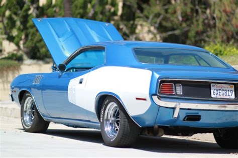plymouth barracuda coupe  blue  sale bsnb