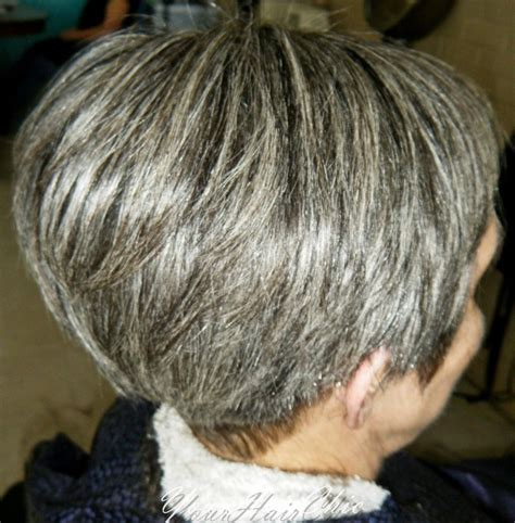 short gray hairstyles with wedge in back 17 best images about hair on pinterest updo buns and bangs